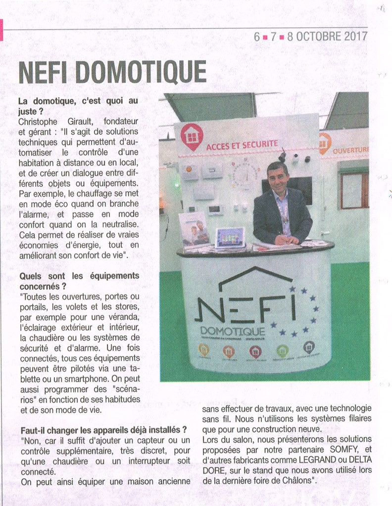 Carrément Habitat - Article NEFI Domotique