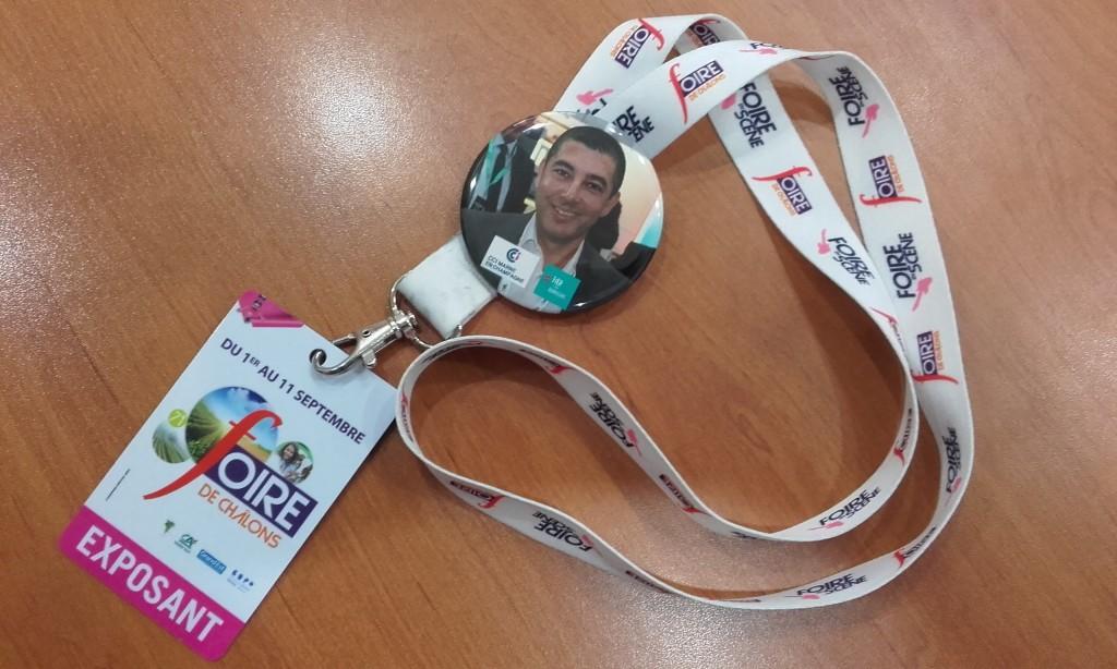 Foire de Châlons 2017 badge exposant NEFI Domotique