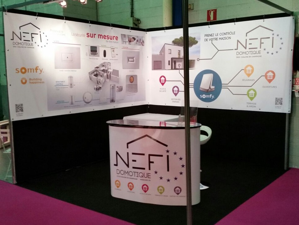 Nefi Domotique stand vide