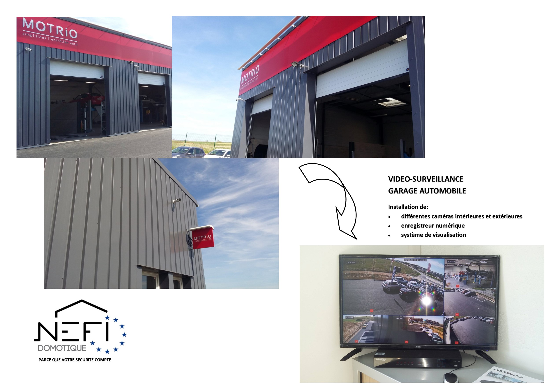 Vidéo-surveillance garage automobile